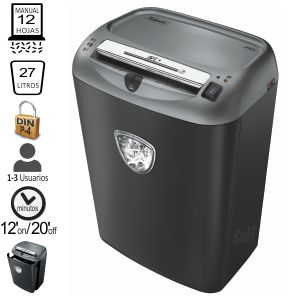 Destructora Fellowes 75Cs, 12 hojas en Particulas P-4