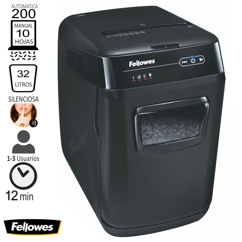 fellowes automax tm 200c destructora automatica