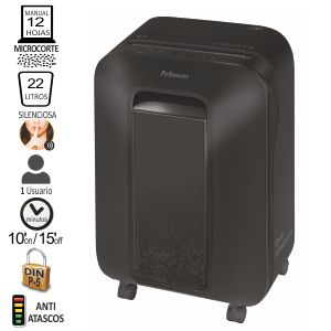Fellowes LX 201 destructora de papel microcorte P-5, Negro