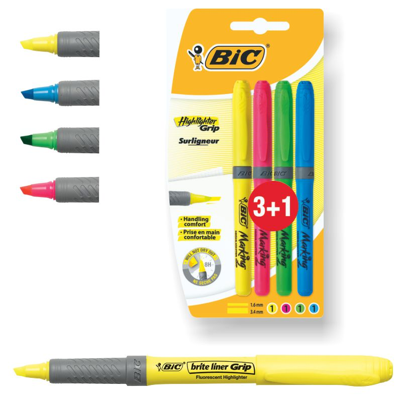 fluorescentes bic marking higlither bic marking