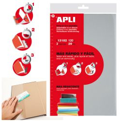 Forro Libros Apli Ajustable 29 Cms Pack 3