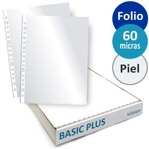 Fundas Multitaladro Folio 60 micras BASIC PLUS Caja 100