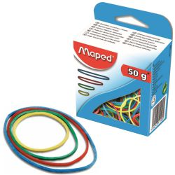 Gomas elasticas de Colores Maped 50 Grs - gomillas