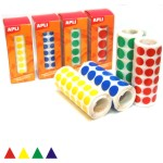 Gomets Apli Rollo Triangulos adhesivos 10.5mm colores