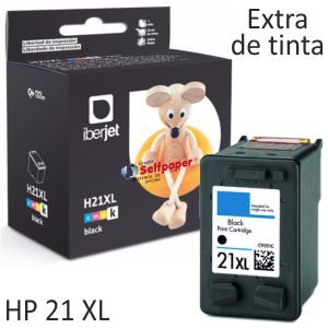 HP 21 XL 21XL Cartucho remanufacturado C9351A 300% tinta