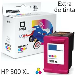 HP 300XL Color  Cartucho tinta compatible Deskjet Photosmart