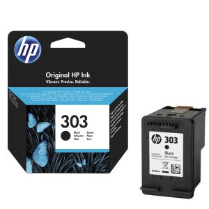 HP 303 Negro, cartucho tinta original T6N02AE Envy Photo