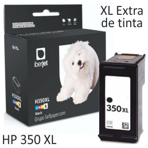 HP 350XL cartucho compatible negro 25ml CB336EE 50% + tinta