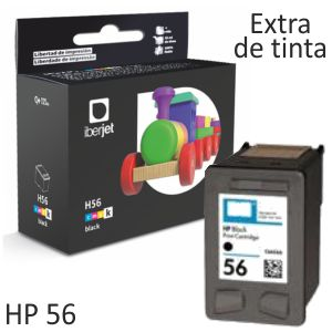 HP 56  Cartucho de tinta Negro 19ml - C6656A remanufacturado