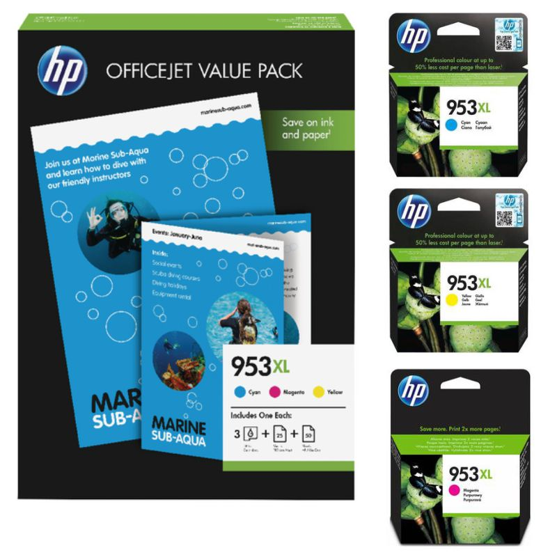 Comprar HP 953XL Value Pack Ahorro 3 Colores - 3  cartuchos color