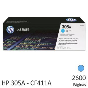 HP CE411A, HP 305A, toner original color Cyan