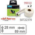 Etiquetas labelwriter 89x28mm 99010