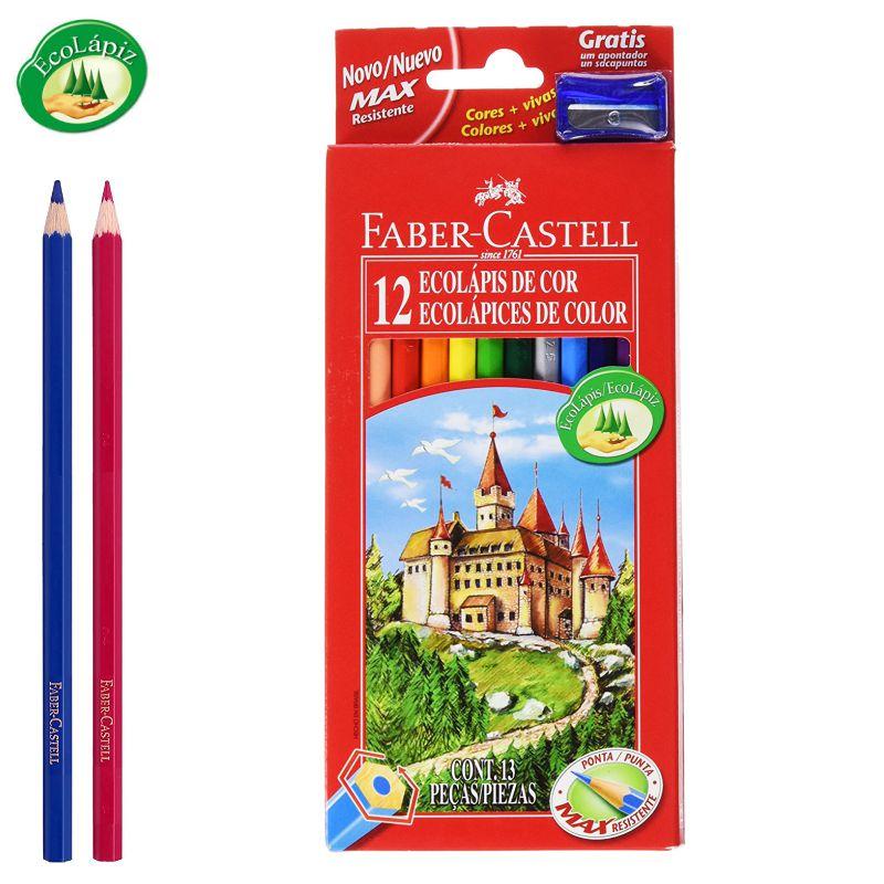 Lapices de color Faber-Castell 12 surtidos, pinturas madera ...