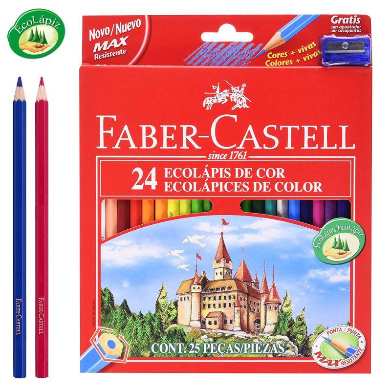 Lapices de Colores, pinturas madera, Faber-Castell 24, Selfpaper.com.