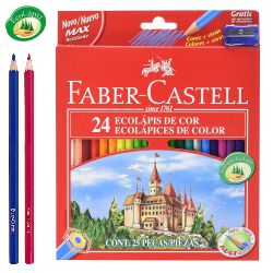 Lapices de Colores, pinturas madera, Faber-Castell 24