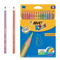 Lapices de 18 colores Bic Kids Tropicolors