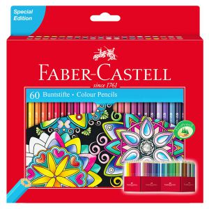 Lapices de Color Faber-Castell 60 Colores de madera