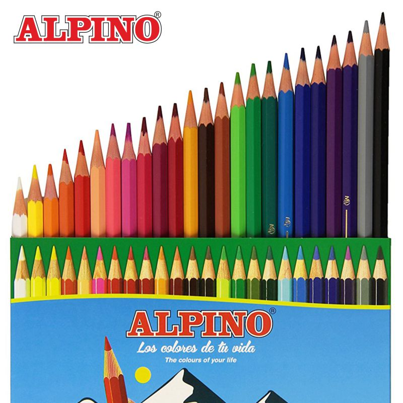 lapices de colores pinturas alpino 24