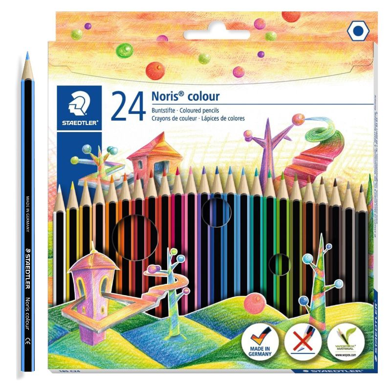 lapices de colores staedtler noris 24