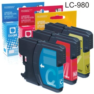 Comprar LC-980 Brother compatible cartucho tinta cada color