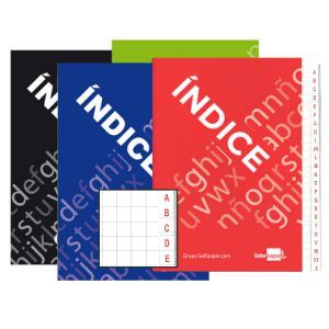 Cuaderno libreta indice abecedario