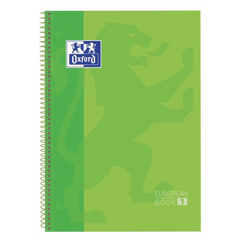 Libreta Oxford European Book 1 Verde manzana 100430199