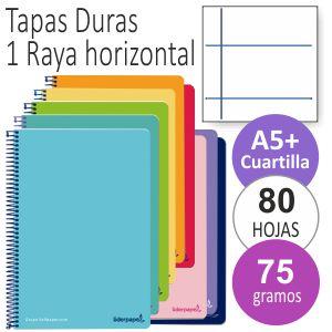 Libreta Tamaño cuartilla A5,