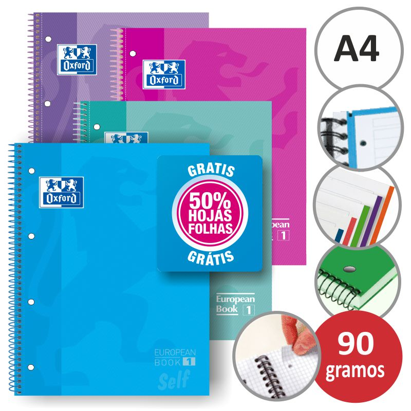 Comprar Libretas Oxford, Blocks 120 hojas 50% Gratis color Tendencia