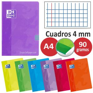 Libretas Oxford grapas Din A4, folio, grapadas lomo