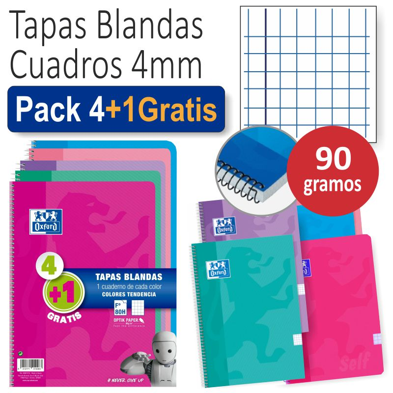 libretas oxford tapa cartoncillo pack 41 gratis t