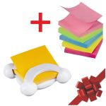 Notas Post-It Z-notes X6 Neon + Dispensador Burbujas