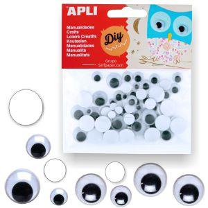 Ojitos móviles adhesivos para