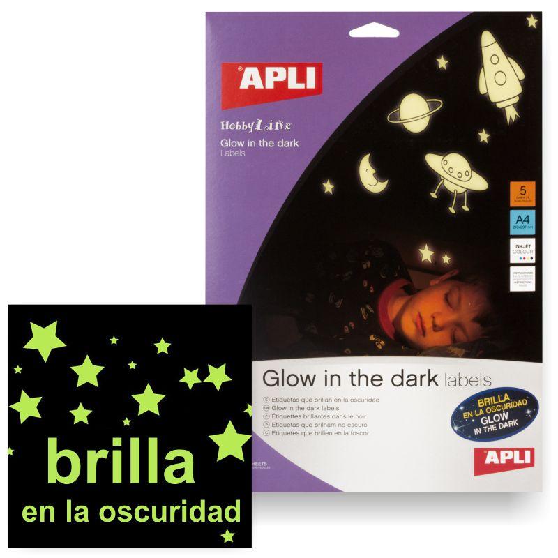 Etiquetas Imprimibles Pegatinas Que Brillan En La Oscuridad Selfpaper Com