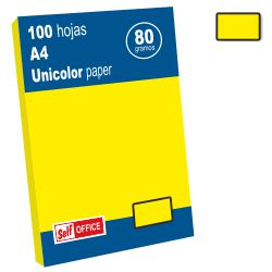 Papel Color amarillo vivo limon Din A4 100 hojas