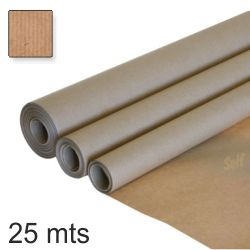 Papel continuo embalar kraft rollo 100cms x 25 mts