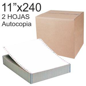 Papel continuo impresora 11x240