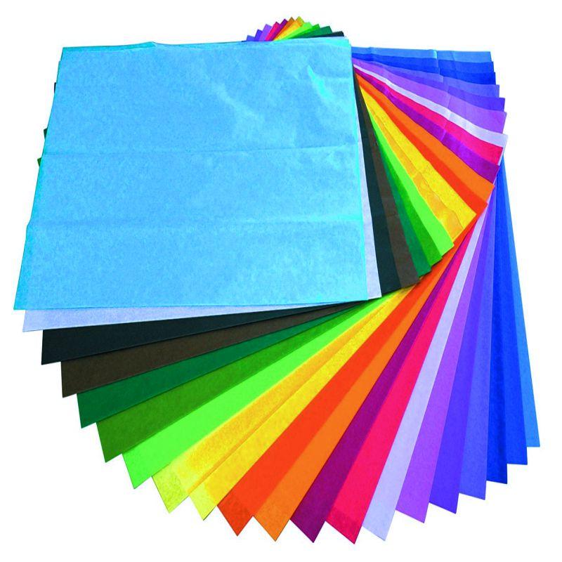 Papel De Seda O Cebolla Rollo 24 Hojas Colores Surtidos Selfpaper Com