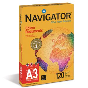 Papel Din A3 120 gramos Navigator colour documents 500 hojas