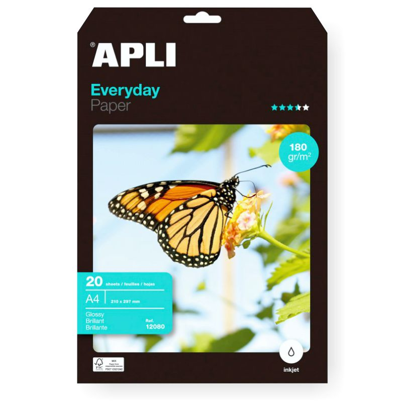 Comprar Papel Fotografico 180 gramos Din A4 brillo Glossy Everyday
