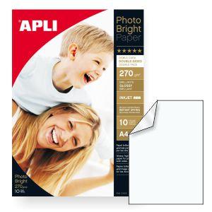 Papel Fotografico a dos caras Inkjet Glossy 270g brillo 2 c