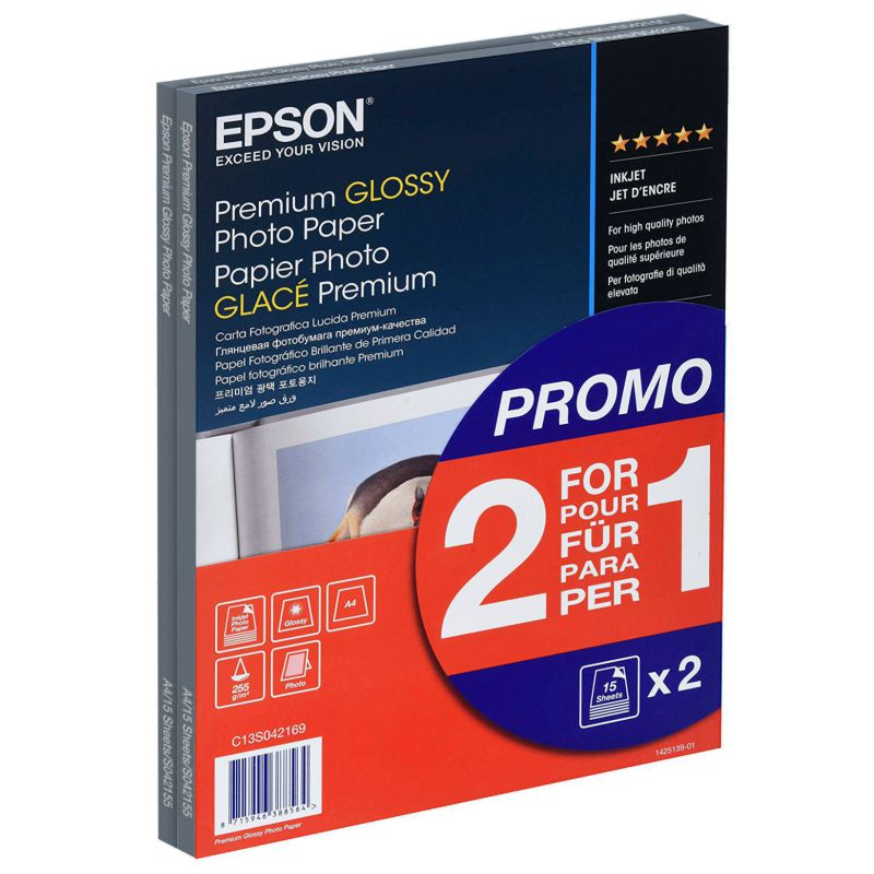 Comprar Papel fotografico ink-jet Din A4 Epson Premium Glossy 2x1