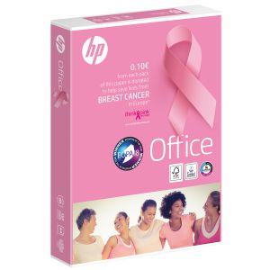 Papel HP Pink Ream Din A4 Folios 80 Grs 500h Lazo Rosa