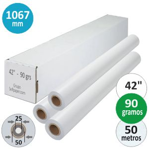 Papel Plotter rollo 1067 X 50 mts 42