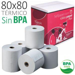Papel termico 80x80 -