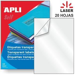 Transparencias Adhesivas Poliester Transparente Laser 20hjs