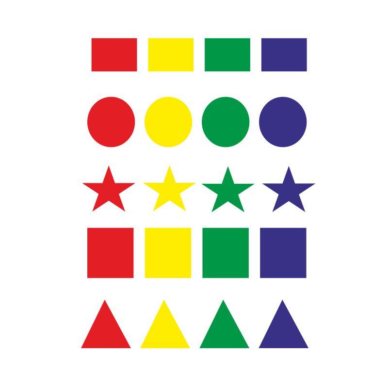 Gomets Apli Figuras Geométricas Surtidas De Colores Selfpapercom