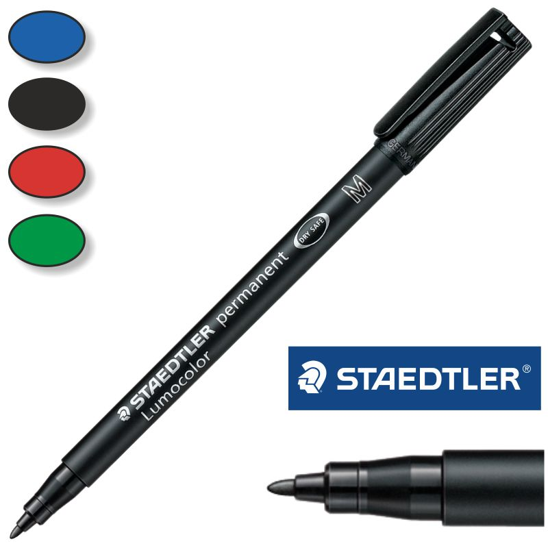 permanente staedtler lumocolor punta media m