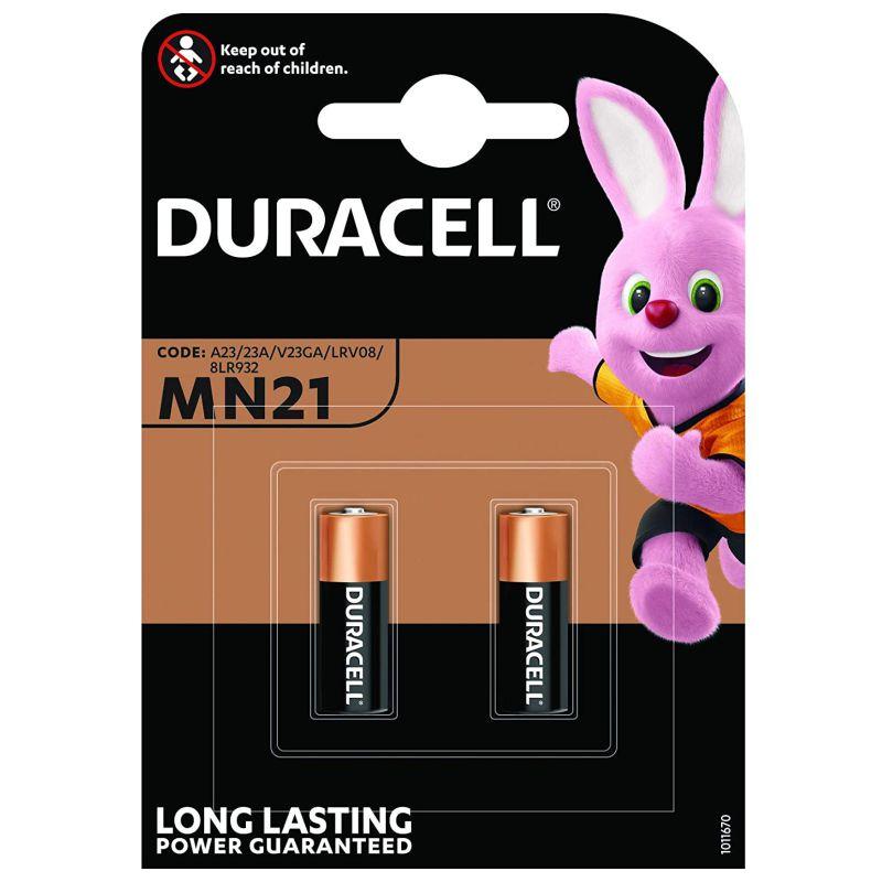 Pilas Lr23a 12v Mando Distancia Garaje Duracell 2uds Mn21