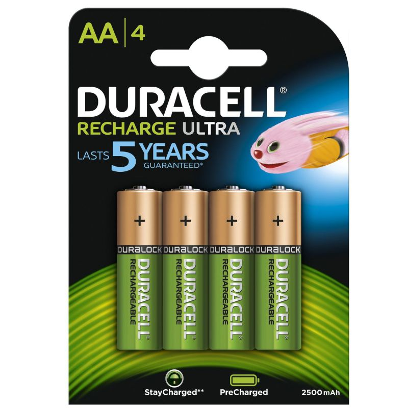 pilas aa lr06 recargables, duracell recharge ultra