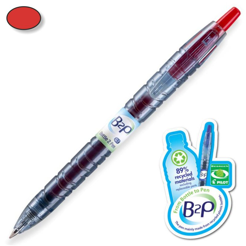 Pilot B2P Gel Bottle 2 Pen Begreen, Bolígrafo Rojo